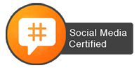 social, media, certified, badge, icon