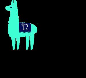 teal, llama, webdesign, branding, design, logo
