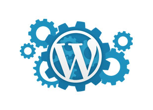 wordpress, icon, moving, gears, automation, responsive